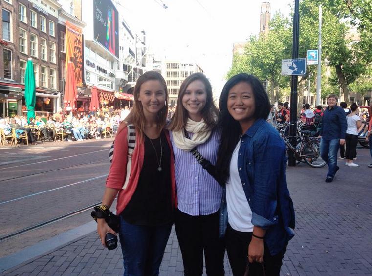 3 young women posing
