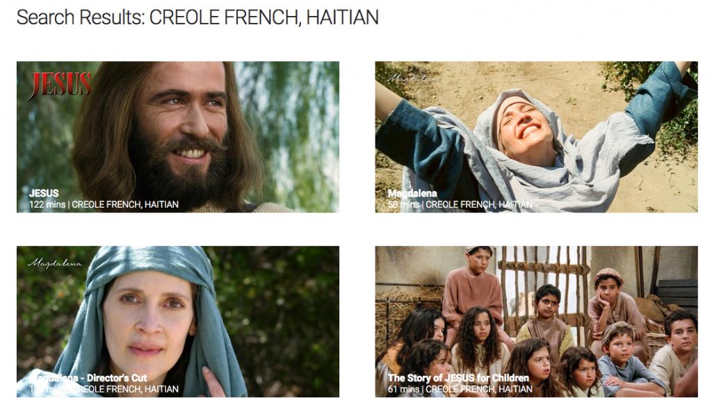 Jesus Film languages