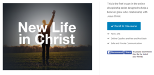 New Life in Christ course