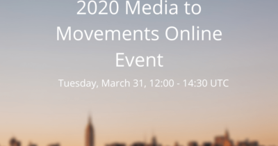 Media to Movements Online Event