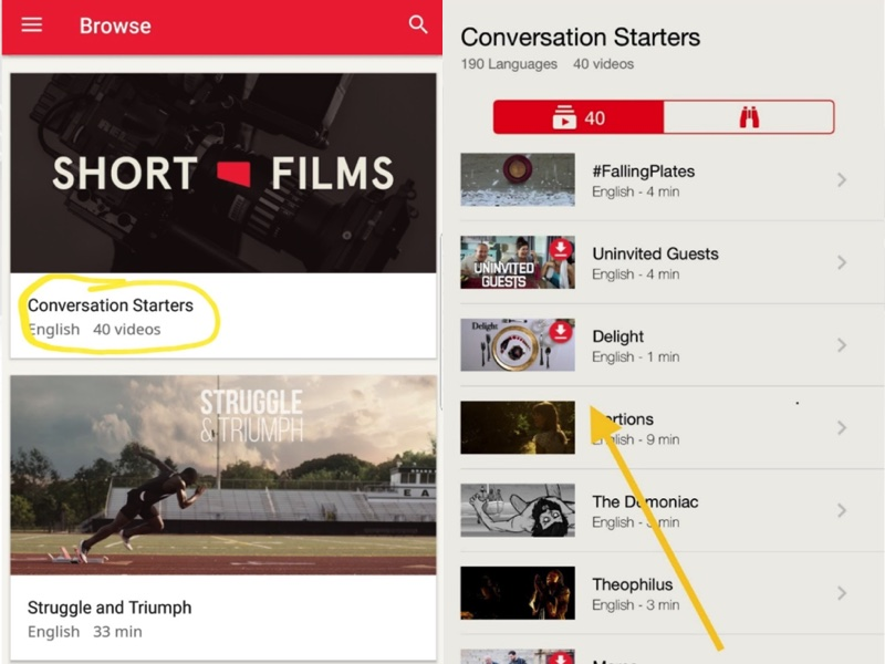Browse Jesus Film App