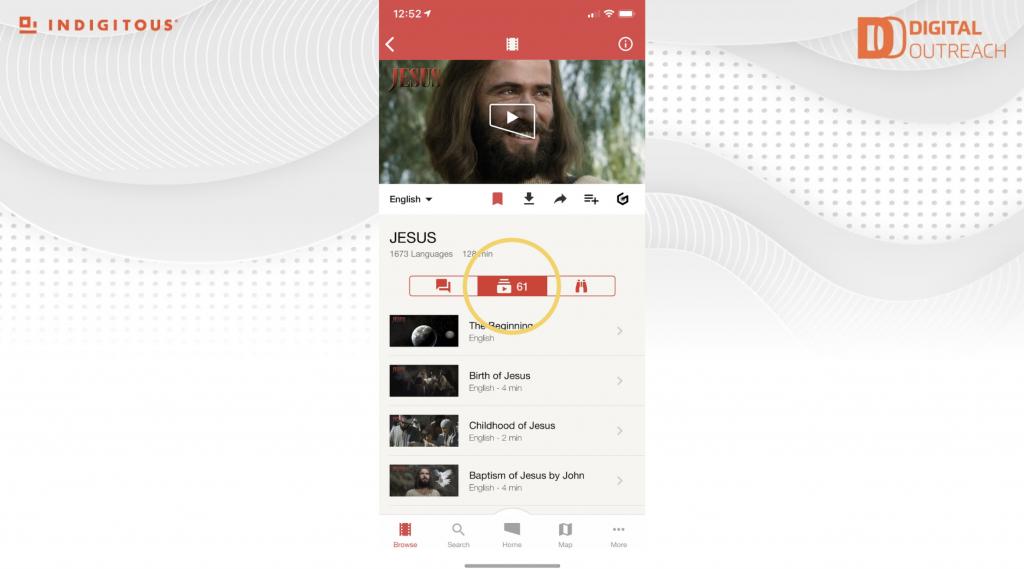 Jesus Film App segments