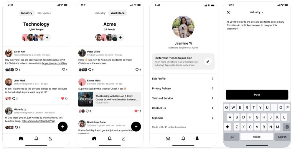 Zion app screenshot