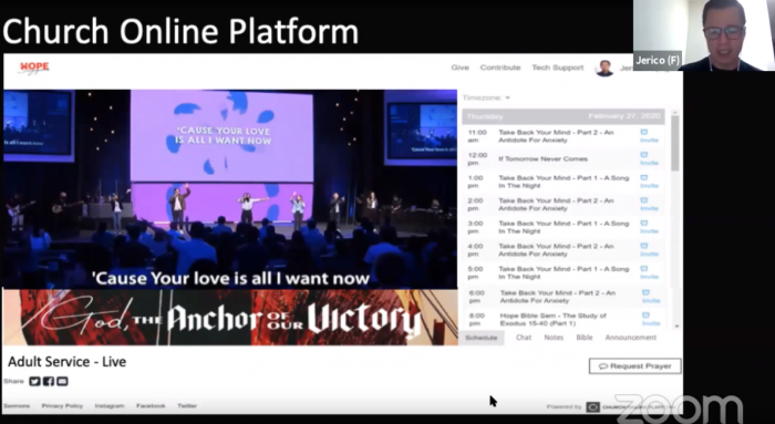 Live streaming your church service